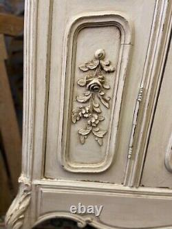 Antique French Armoire / Antique French Linen Press / Shabby chic Wardrobe