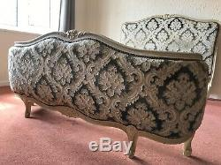 Antique French Lit Capitonne double bed frame Shabby Chic Project