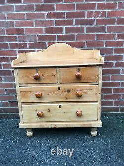 Antique French Pine Chest Drawers Solid Wood Shabby Chic Vintage Country Cottage