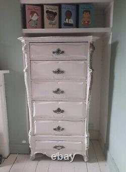 Antique Louis XV French Chest of Drawers/Tall Boy Shabby Chic