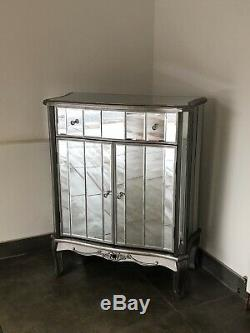 Argente Silver Sideboard Cabinet French Mirrored Furniture Vintage Shabby Chic