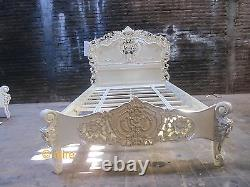 BESPOKE Small Double 4' French style Rococo Bed shabby baroque oriental chic