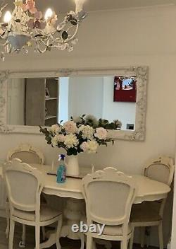 Beautiful French Shabby Chic 4 6 Seater Dining Table chairs NOT included