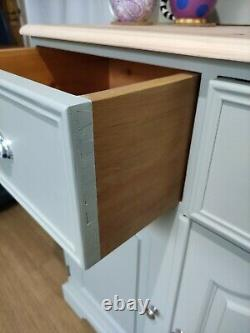 Beautiful Solid Pine Welsh Dresser Kitchen Sideboard Painted F&B French Gray