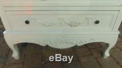 Beautiful White Shabby Chic French Wardrobe/armoire With Drawer