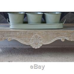 Bordeaux Hallway Console Table with 3 Drawers in French Style Shabby Chic