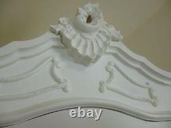Bordeaux Single Armoire Wardrobe In White French Shabby Chic Finish