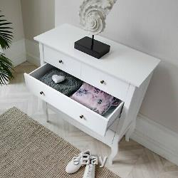 Camille Chest of Drawers in White Shabby Chic French Style