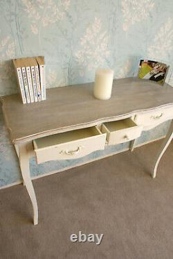 Casamoré Devon Shabby Chic French Style Cream 3 Drawer Console Dressing Table