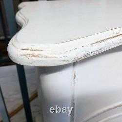 Chest Drawers French Painted Serpentine Style Vintage Shabby Chic 2+2
