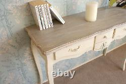 Devon Shabby Chic 3 Drawer Console Dressing Table French Country Style Cream