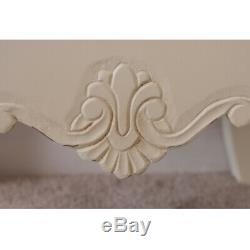 Devon TV Cabinet in French Style Shabby Chic Storage Stand Cream Painted Finish