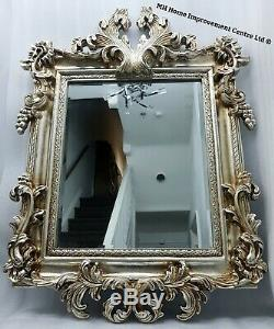 Elegant Antique French Design Large Wall Mirror Champagne Gold Shabby Chic