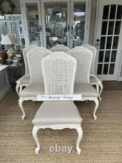 Extending French Dining Table And 6 ChairsFarrow & BallPaintedShabby Chic