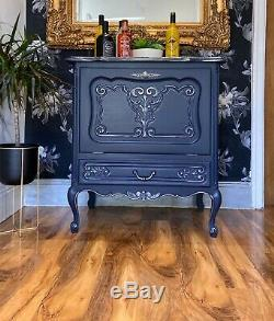 Fabulous Carved Vintage French ShabbyChic Drinks Cabinet Cupboard Chest Painted