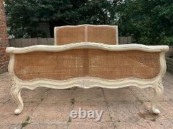 Fantastic Rattan Sleigh Antique French Shabby Chic King Bed Frame 5FT