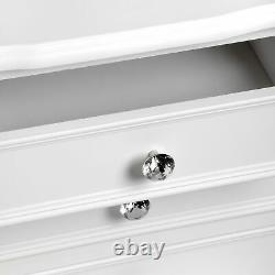 Florence 5 Drawer Tall Boy Chest of Drawers Shabby Chic White French Country