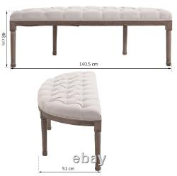 French Bedroom Bench Vintage Window Seat Shabby Chic Antique Style Bed Furniture