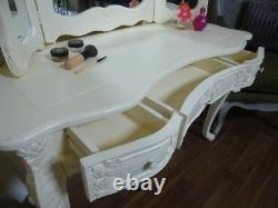 French Bordeaux Dressing Table In Cream Shabby Chic Style