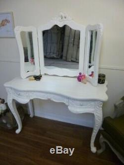 French Bordeaux Dressing Table In White Shabby Chic Style Vanity Unit