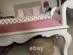 French Chateau Range Furniture Upholstered Bench, Pink