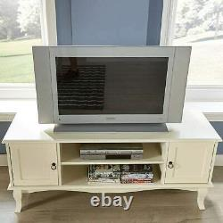 French Classical Shabby Style Cream Large Cabinet Low TV Unit Stand Cupboard New