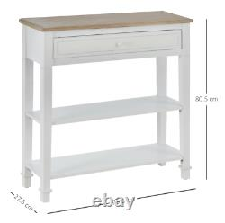 French Console Table Vintage Hallway Furniture Narrow Shabby Chic Shelf Drawers