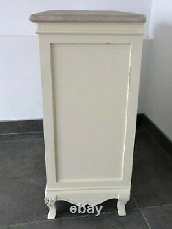 French Country Cream Large Wooden Chest of Drawers Shabby Chic