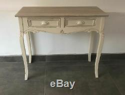 French Country Cream Wooden Dressing Table Console Table Shabby Chic