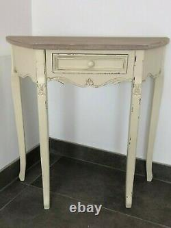 French Country Cream Wooden Hallway Table Console Table with Drawers Shabby Chic