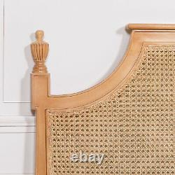 French Country Style Antiqued Classic 5ft King Size Shabby Chic Rattan Headboard