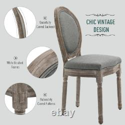 French Dining Chairs Vintage Louis Style Seat Shabby Chic Set 2 Solid Wood Chair