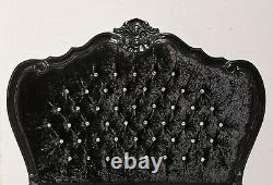French Double Louis Provencal Bed Black Shabby Chic Hand Made Brand New