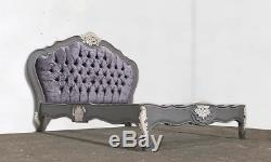 French Double Louis Provencal Bed Grey Shabby Chic Hand Made Brand New