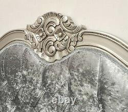 French Double Louis Provencal Bed Silver Shabby Chic Hand Made Brand New