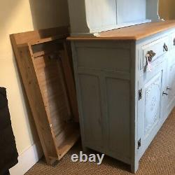 French Dresser, Kitchen Unit, Display Cabinet, Painted, Rustic Vintage
