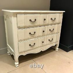 French Ivory White Cream Shabby Chic Storage Chest Of Drawers Side Board