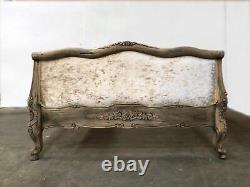 French Juliette Bed Double Weathered Oak Shabby Chic
