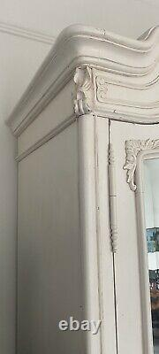 French Louis Mirrored Wardrobe. Shabby Chic Style