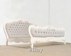 French Louis Provencal Double Bed French White Shabby Chic Brand New