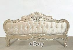 French Louis Provencal Kingsize Bed Gold Shabby Chic Brand New