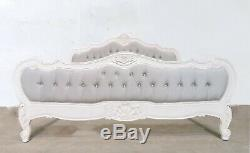French Louis Provencal Superking Bed French White Shabby Chic Brand New