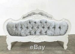 French Louis Provencal Superking Bed White Shabby Chic Brand New