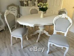 French Louis Style Chair Shabby Chic Bedroom Dining Decorative Antique Chair