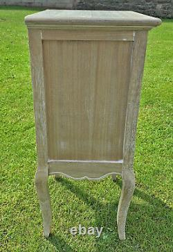 French Louis XV Shabby Chic Style Bedside Cabinet (cy16815)