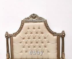 French Marseilles Double Bed Champagne Gold Shabby Chic Brand New