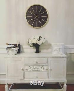 French Painted White Antique Sideboard Cupboard Cabinet Unit Shabby Chic Drawers
