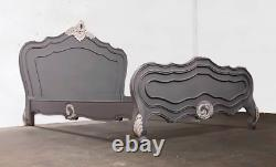French Paris Bed Superking Grey And White Brand New Shabby Chic
