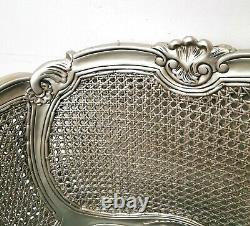 French Parisian Chair Silver Shabby Chic Hand Made