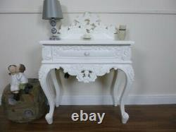 French Rococo Side Table In White Shabby Chic Style Side Table Hand Carved